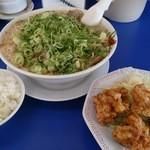 来来亭 - 唐揚げ定食チャーシュー麺大
