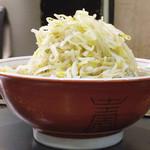 ラーメン - 豚入りラーメン 野菜まし にんにく抜き \800