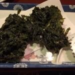 四季彩華旬太郎 - 四万十青さのり天婦羅(600円)