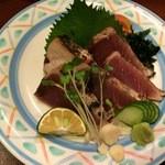 四季彩華旬太郎 - 生カツオ塩たたき(1600円)