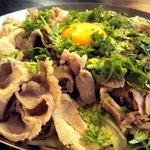 横浜中華街 薬膳火鍋 大草原 - 小尾羊特製香菜入り冷麺です