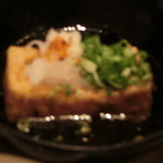 鮎亭 - 揚げ出し豆腐です。
