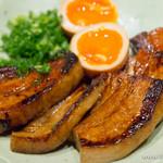 銀座 佐藤養助 養心蔵 - 厚切り炙りチャーシュー 比内鶏味玉と【2015年10月】