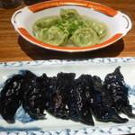 タイガー餃子会館 - 青菜水餃子、黒牛肉餃子