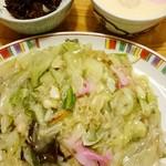 銀座 吉宗 - 皿うどんと茶碗蒸しと角煮ごはん