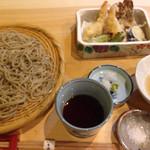 いち遊 - 天ぷらとそば御膳@1550+税