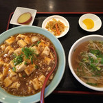 龍潭 - 麻婆丼セット