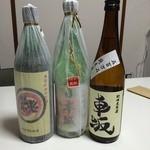 43272649 - 左から古酒・日本城・車坂