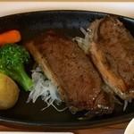 あぷかの森 - 鹿ロース肉ステーキ、全くクセが無いところか美味しいお肉です!