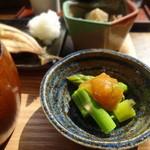 ヨリドコロ - 小鉢:アスパラ梅和え