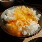 ヨリドコロ - 卵掛けご飯用こだわりの卵をご飯に掛けた図