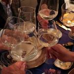 43276218 - 先ずは日本酒で乾杯〜♪
