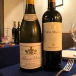 ル・トア・ド・パリ - 前半の料理に合わせた白ワインとスペインの赤ワイン