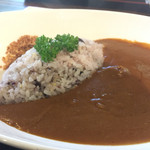 三笠茶屋 くんぺい - 三笠ホテルカレー 信州牛 五穀米 1300円