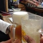 さらしな - H.27.10.7.昼 ハイボール 432円 vs 生ビール 540円