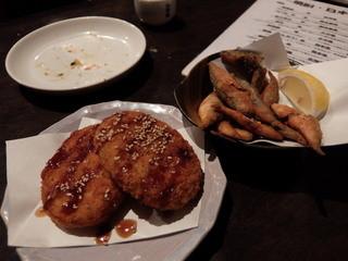 博多もつ鍋専門 食べ放題居酒屋 筍庭 - コロッケ、小アジのフライ