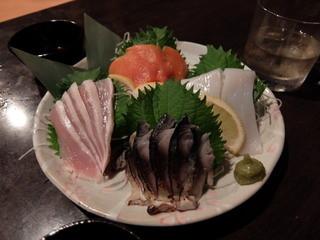 博多もつ鍋専門 食べ放題居酒屋 筍庭 - 刺身4点盛り合わせ