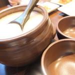 韓国料理ノダジ - 甕で来るマッコリ
