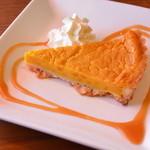 カフェドメルシー - 10月限定のかぼちゃのケーキ