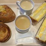 リトルマーメイド - 料理写真:デンマークチーズのパン、イタリアの栗パイ、イギリスパンのたまごサンド