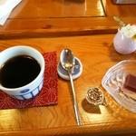 鰹乃国のめし家 萬や - 食後のミニコーヒー100円