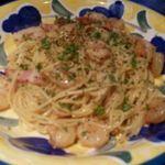 イタリアンレストラン アランチーニ 桜上水 - ぷりぷり海老のペペロンチーノ