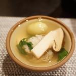 禅紫 - 15.10 松茸の土瓶蒸し(1,200円)