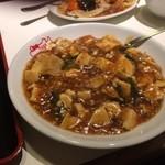 紅宝石 - 麻婆豆腐丼 香辛料効いてます チョイ辛 舌に残ります