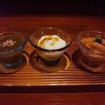 醸し家 おおくぼ - 料理写真:糸水雲酢、呉豆腐、烏賊の塩辛