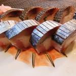 なか井 - 2種の鯖棒寿司
