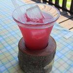 mi cafe - ピンクのりんごジュース