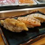 つきぢ神楽寿司 - 炙り3巻。