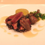 リストランテ エッフェ - セコンド・ピアット ブレス産の鳩の胸肉、もも肉、内臓(砂肝、心臓、レバー)のロースト (2015/09)