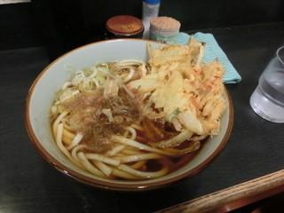 文殊 両国駅前店 - かき揚げうどん380円