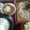 太田食堂 - 料理写真:ミニもつ煮と半ライスのセットお好きな麺類と組み合わせ自由