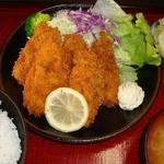 太田食堂 - 季節商品広島産牡蠣フライ定食11月~3月
