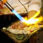 43331989 - 炙り寿司 さしトロ