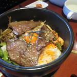 千乃房 - 近江牛肉のカルビ石焼ビビンバ 1400円