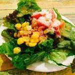 43334816 - ランチのサラダ。食べ放題(^^)