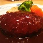銀座洋食 三笠會館 - 黒毛和牛とやまと豚のハンバーグステーキ(1.5倍 270g)