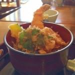 峠の茶寮 みわ屋 - 料理写真:そばセットの天丼