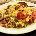 43337662 - 絶品!牛バラ肉とトマトの卵炒め