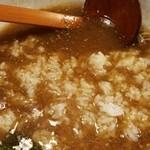 ちゃんこ鍋 弁慶 - ちゃんこラーメン(790円)+小ライス(150円)=スープ雑炊