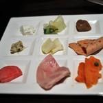 ウェスティンホテル東京 - 朝食:冷菜類を盛ったところ