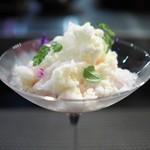 ミラヴィル インパクト - 夏果実のラタトゥイユ風とオリーブオイルのかき氷