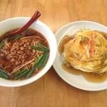 鮮味軒 - ランチAセット(台湾ラーメン+天津飯)