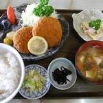 二本松インタードライブイン - 料理写真:メンチカツ定食¥700