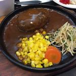 和風レストラン 魚勝 - 2015年10月中旬  手作りハンバーグのアップ。デミグラスソースが美味しかった。