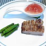 43344531 - 前菜の盛合せ 豚トロ 金針菜 トマト