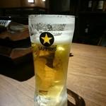 仙台牛タン 松阪鶏焼肉 福島西屋 - ビール